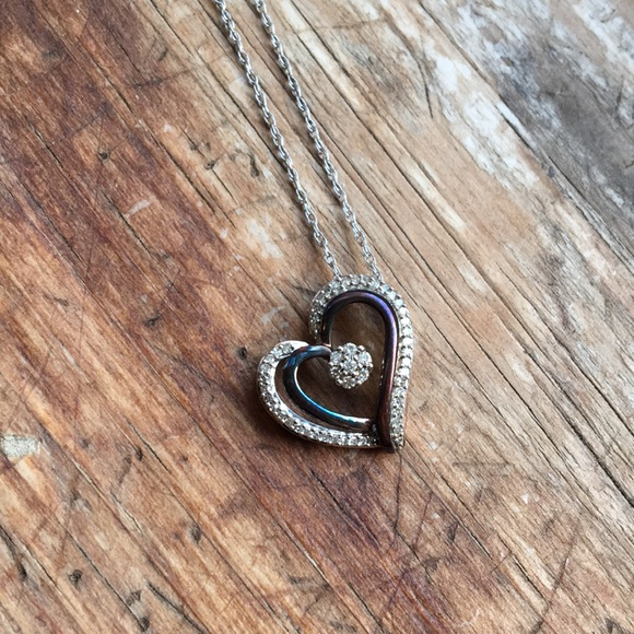 *2 for $20* STERLING SILVER HEART NECKLACE